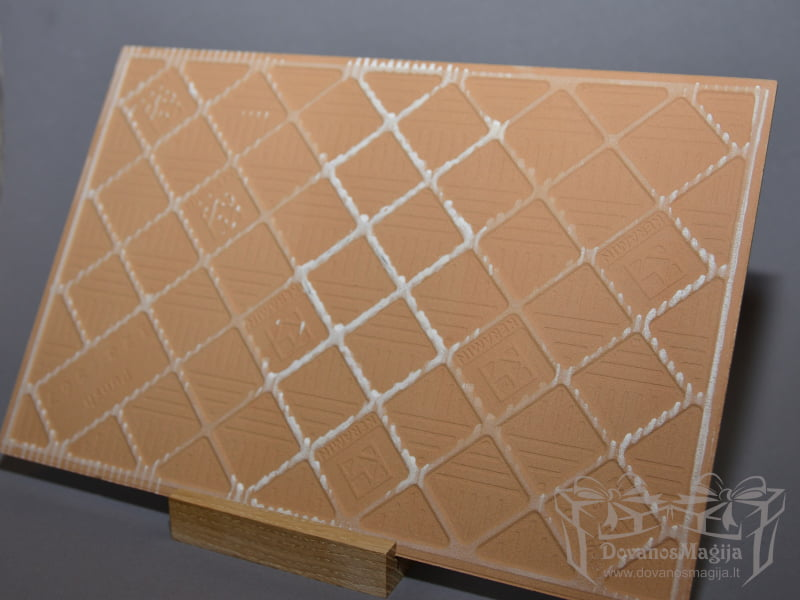 spauda, Vestuvinė nuotrauka ant keraminės plytelės iš nugarinės pusės