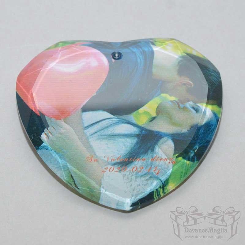 foto ant stiklo nuotrauka ant stiklo, dovana Valentino dienai, Širdelė
