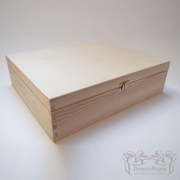 Medinė dėžutė stačiakampė 36x30x10cm MedinesDovanos Medinė dėžutė