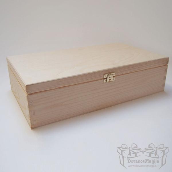 Medinė dėžutė stačiakampė 36x20x10cm Medinės Dovanos Medinė dėžutė