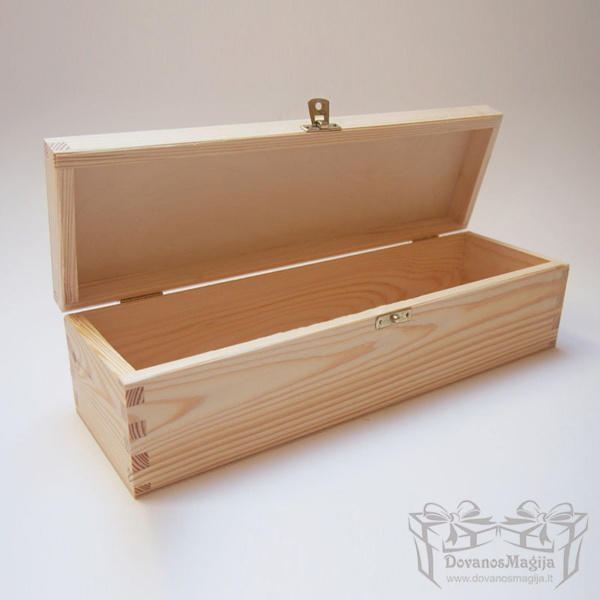 Medinė dėžutė stačiakampė 36x11x10cm MedinesDovanos Medinė dėžutė