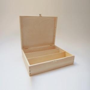 Medinė dėžutė stačiakampė 36x30x10cm