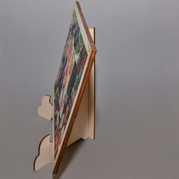 Medinė dėlionė 108 detalės 20x30cm su rėmeliu