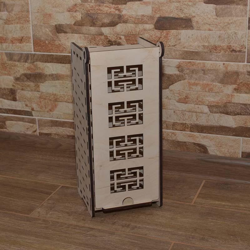 Medinė dėžutė pavyzdžiams 35x14x15cm