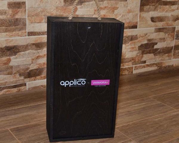 Medinė dėžutė pavyzdžiams 36x21x10cm