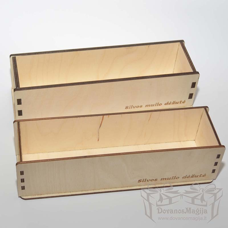 Medinė dėžutė muilo gamybai 26x7x7cm 4mm